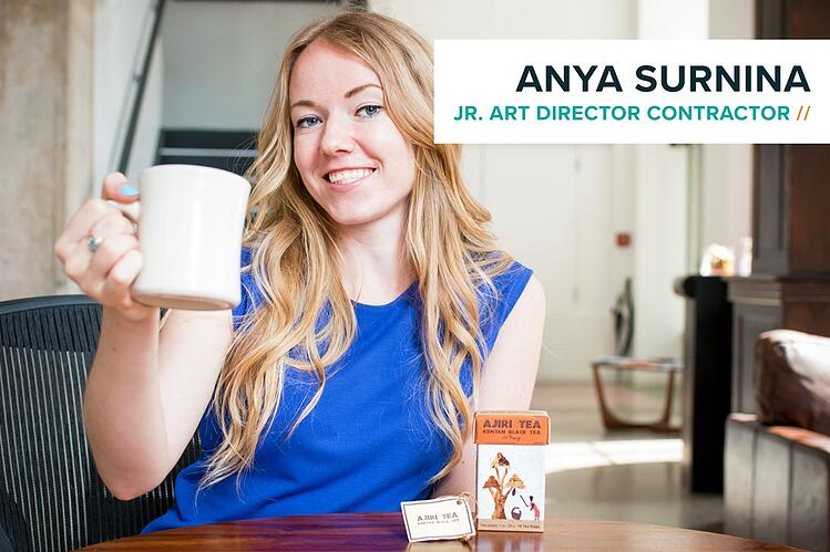 Jr. Art Director Contractor Anya Surnina with Ajiri Tea