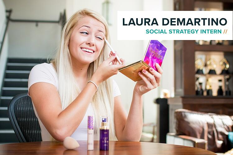 Social intern Laura DeMartino uses Tarte Cosmetics