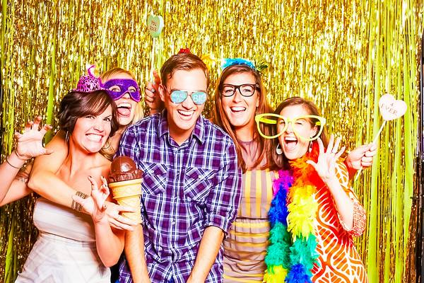 Springbox employees at a party