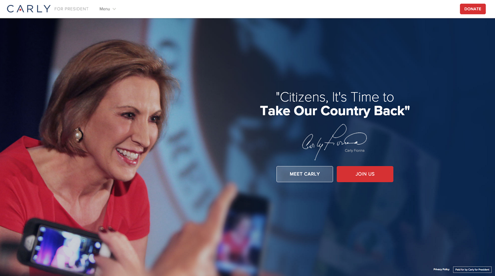 Carly Fiorina Homepage