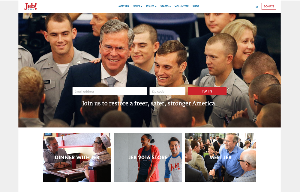 Jeb Bush Homepage