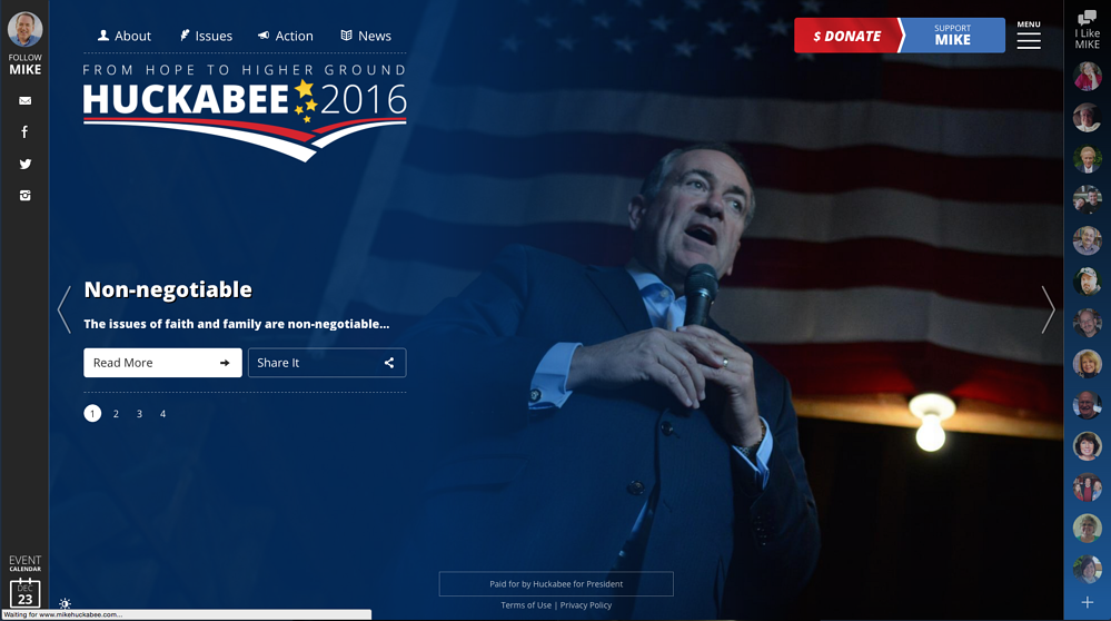Mike Huckabee Homepage