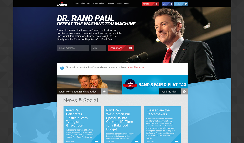 Rand Paul Homepage