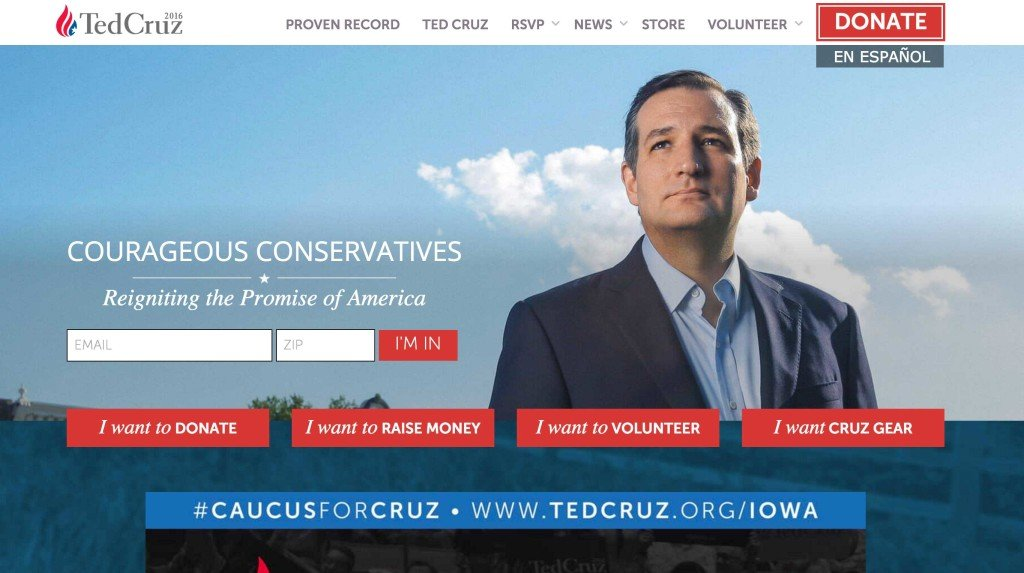 ted cruz 2016 presidential election website