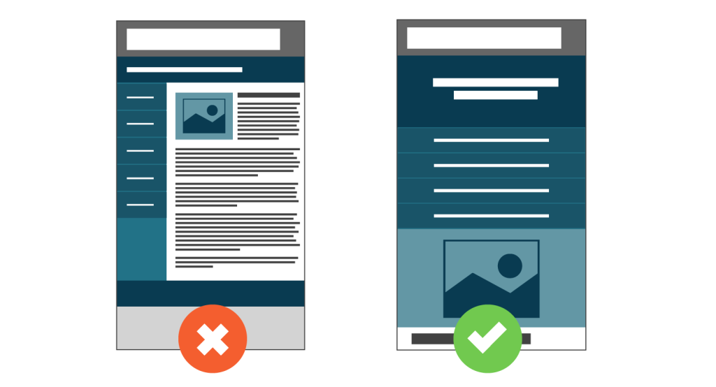 Guidelines for designing for mobile