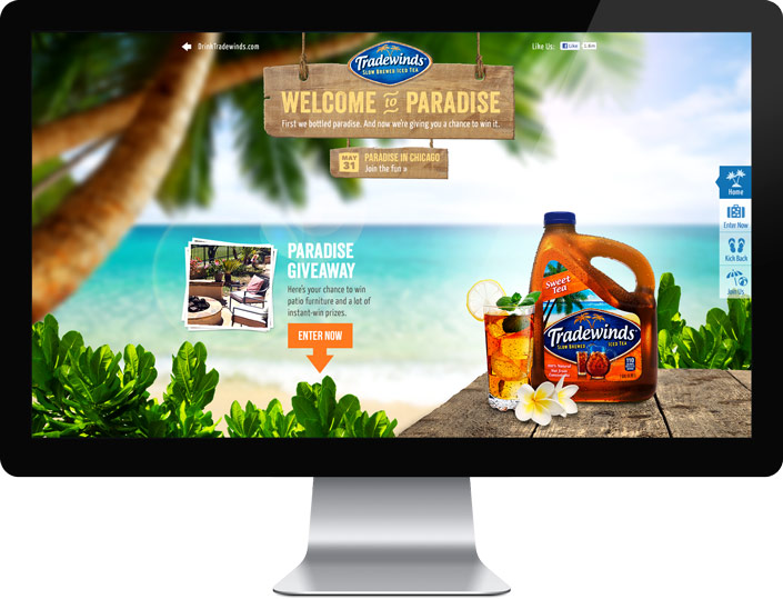 Tradewinds' campaign takes fans to paradise and gives them a chance to win it.