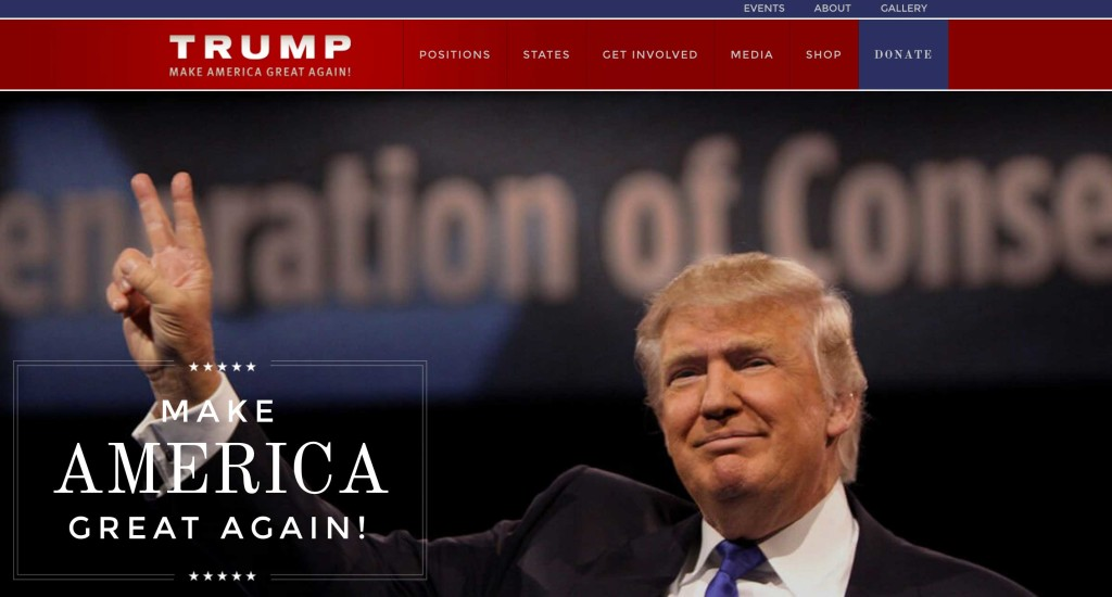 donald trump 2016 presidential election website