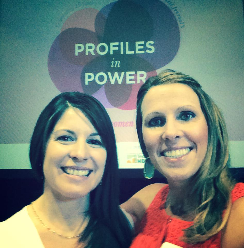 Maria Seaver and Megan Coffey at Profiles in Power event