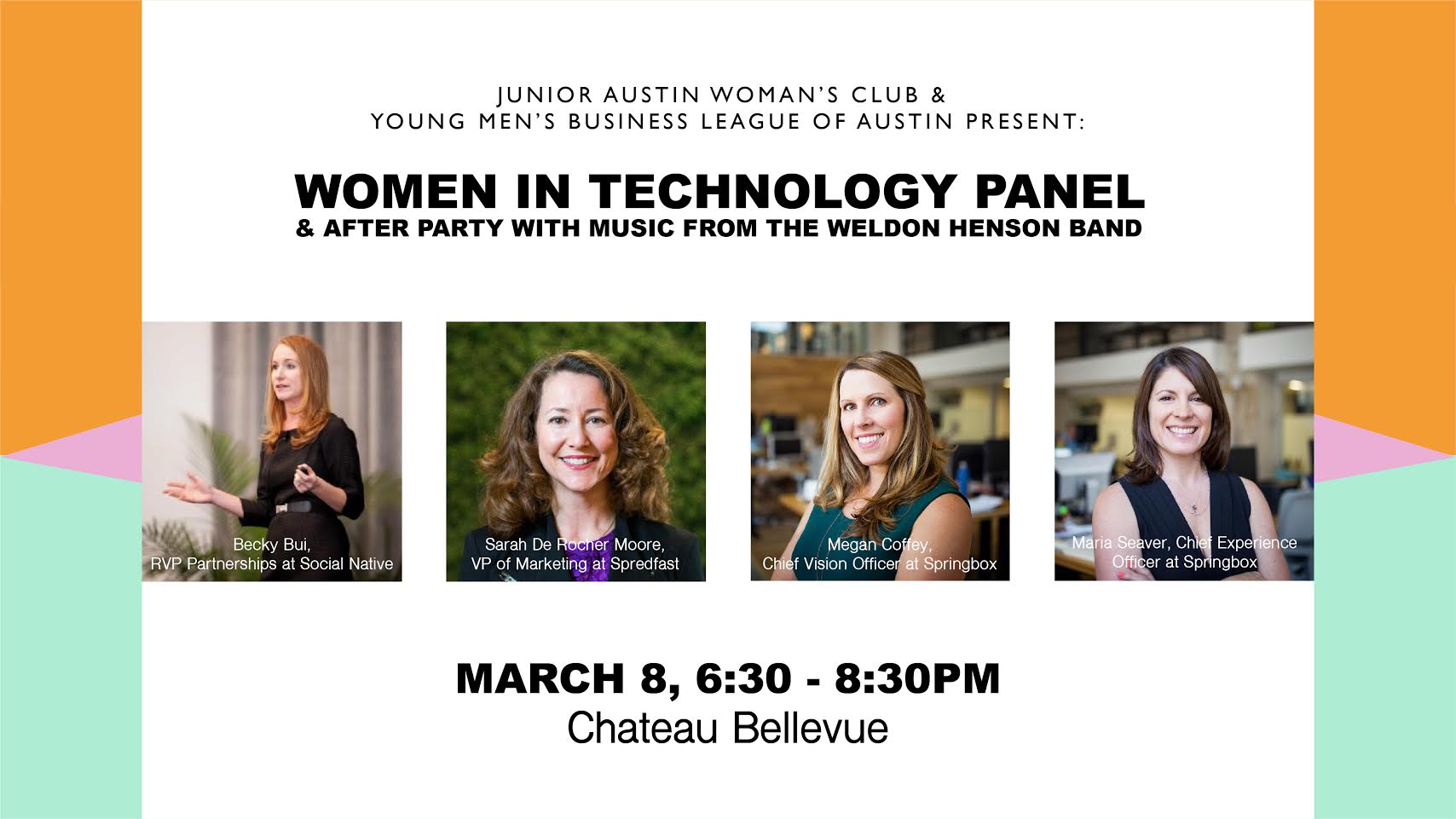 Flyer for Women in Technology Panel